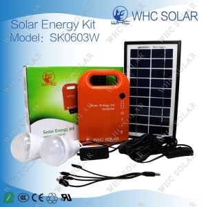 Whc Sk0603W 3W DC Solar Energy Kit with 2 LED Lights pictures & photos