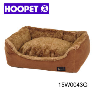 Luxury Fake Fur Brown Dog Bed Pet Cushion