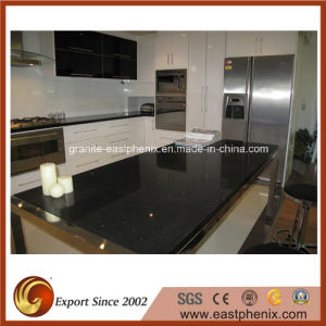 Prefab Black Quartz Stone Countertop For Kitchen/Bathroom