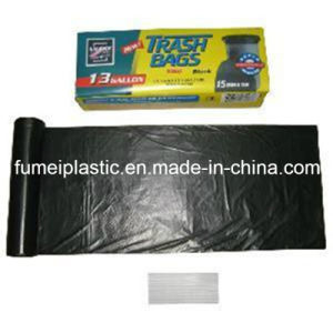 PE Recycled Star-Sealed Plastic Garbage Bag with Colour Box Packaging