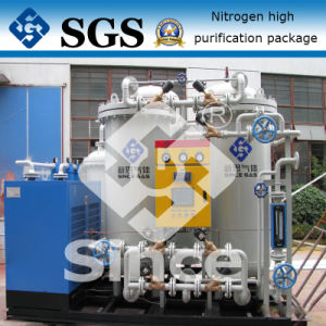 High purity nitrogen generator system for heat treatment industry