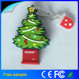 Rubber Santa Claus Tree USB Drives for Christmas Gift