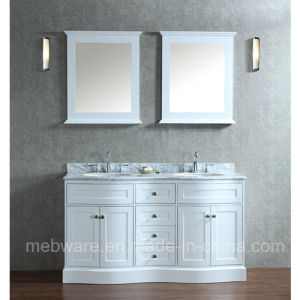 "60"" Double-Sink Solid Wood Bathroom Vanity Set"