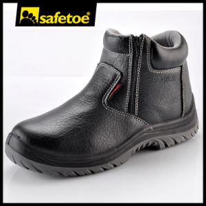 Lace up Safety Shoes Zip Work Shoe Safety Footwear M-8160