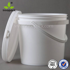 1L Small Plastic Bucket Pail for Coconut Powder pictures & photos