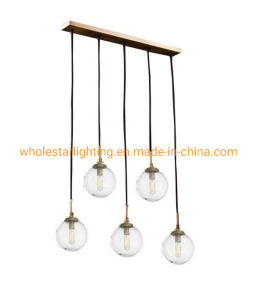Metal Chandelier with Glass Shade (WHG-654)