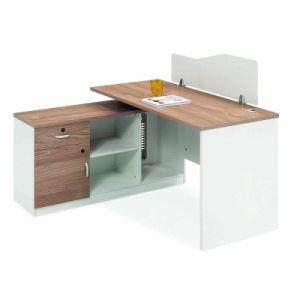 Modern Wood Office Furniture L Shape Desk 2 Seats Office Staff Workstation  2 Person Computer Desk