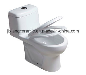 Hot Ceramic One-Piece Toilet 3# Washdown with Saso/Ce pictures & photos