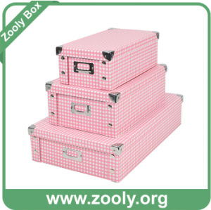 Printed Paper Foldable Storage Box with Metal Corner pictures & photos
