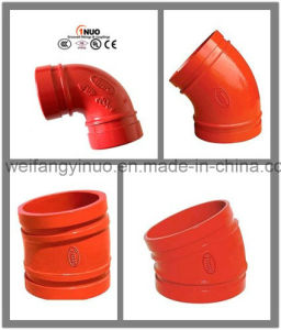 Fire Fighting Ductile Iron Grooved Elbow with FM/UL/Ce Certificates pictures & photos