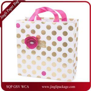 china foil gold polka dots printing paper bag paper gift bag art