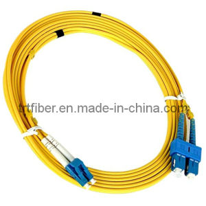 3m Sc-LC Upc Sm Duplex Fiber Optic Patch Cord pictures & photos