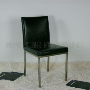 Cheap Stainless Steel Foot with PU Leather Dining Chair (NK-DC024)