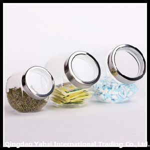 Set Glass Storage Jar with Plastic Lid pictures & photos