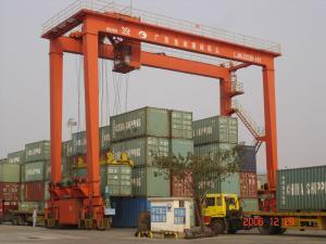 Industrial Rubber Tyre Container Gantry Crane 30t