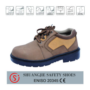 Leather PU/PU Outsole Industrial Safety Shoe