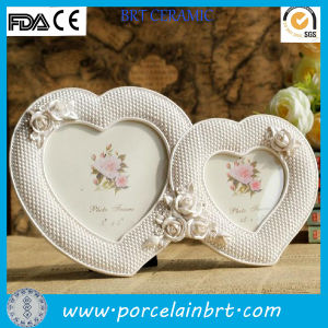 Hot Heart Shaped Love Photo Frame with Rose pictures & photos