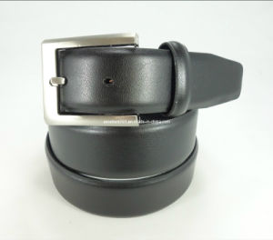 Classic Man Leather Belt with Pin Buckle (EUBL0722-35)