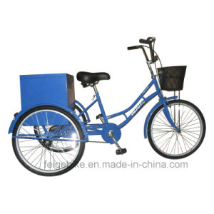 """24"""" /20"""" with Rear Box Cargo Tricycle Industrial Trike (FP-TRB-J014)"""