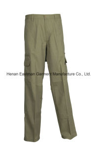 Men′s 100%Cotton Fashion Pants Canvas Long Trousers with Leg Pockets pictures & photos