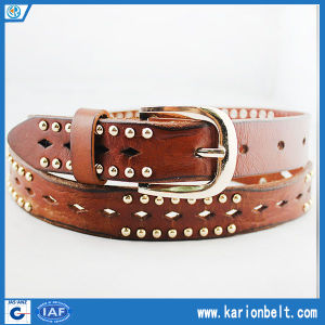 Casual Metal Stud Perforated Jeans Belt (30-13194)