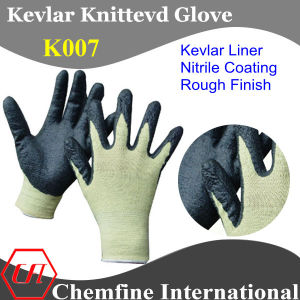 Kevlar Knitted Glove with Nitrile Coated Palm pictures & photos