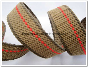 "1"" Cotton Webbing with Red Line"