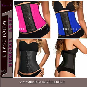 Wholesale Latex Underbust Waist Trainning Sexy Lady Corset Lingerie (TG699) pictures & photos