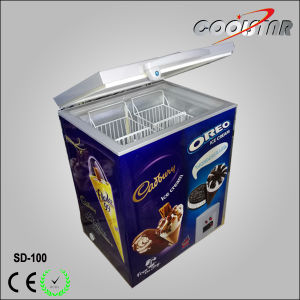 Top Open Glass Door Chest Freezing Showcase for Ice Cream pictures & photos