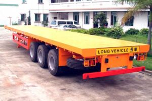 40ft Flatbed Container Semi Trailer / Container Trailer