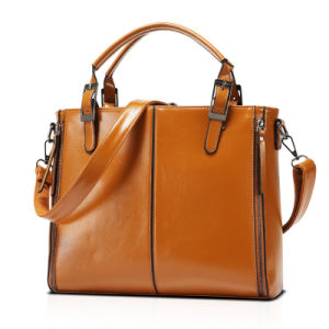 China Women Oil Wax PU Leather Tote Vintage Shoulder Handbag 30 12 ... b096de488faa2