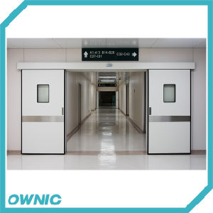 Double Hermetic Sliding Door with Kick Plate of Hospital Operation Room pictures & photos