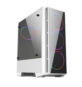 Gaming PC Case with Tempered Glass Front Panel Model-5511
