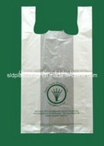 HDPE Whitte T-Shirt Plastic Shopping Bag