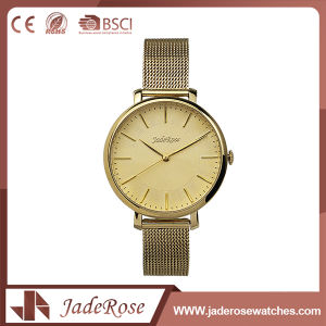 Waterproof Round Dial Shape Ladies Quartz Stainless Steel Watch pictures & photos