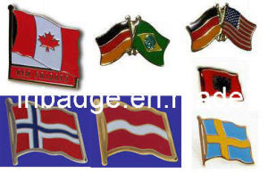 Flag Pin, Pin Badge, Metal Pin (LH-3019)