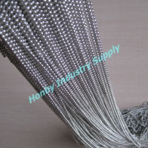2.4mm Silver Color Stainless Steel Bead Chain (L0116AC)