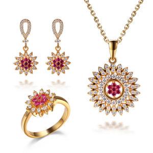China gold tone fashion sunshine ruby stone earring ring pendant gold tone fashion sunshine ruby stone earring ring pendant jewellery aloadofball Images