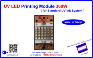 UV LED Printing Module/Lamp -360W for Standard UV Ink System, to Replace Mercury UV Lamps.