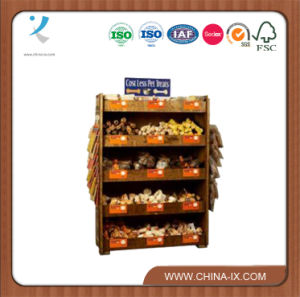 Custom Wood Pet Accessories Store Pet Food Display Shelf pictures & photos