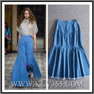 c214c1c2b3fd China Wholesale Latest Design Girls Women Blue High Waist Denim ...