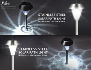 Stainless Steel Solar Path Light with White LED pictures & photos