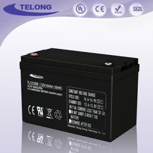 12V100ah Rechargeable Solar Power Gel Solar System UPS Battery pictures & photos