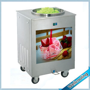 Popular in The World Fried Ice Cream Machine Single Pan pictures & photos