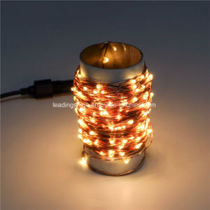 China Paper Tube Copper Wire String Fairy Light Adapter Safe Voltage ...