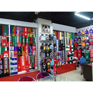 Custom Cheap Jacquard Football Fan Knit Scarves (JRI044) pictures & photos