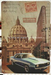 Automobile Theme Hotel Decoration Vintage Tinplate 20*30cm pictures & photos