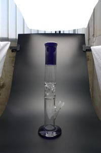 D&K Wholesale Flared Straight Tube Pipe Glass Water Pipe