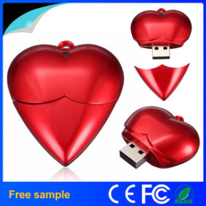Red Heart Shape Plastic USB Flash Drive for a Gift USB