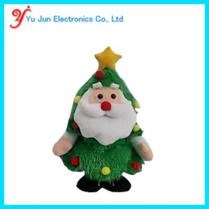animated walking santa xmas tree with singing musical singing and walking plush christmas tree - Musical Animated Christmas Decorations